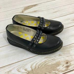 DR. MARTENS Jessie Olivia 2 Bar Black Shoes